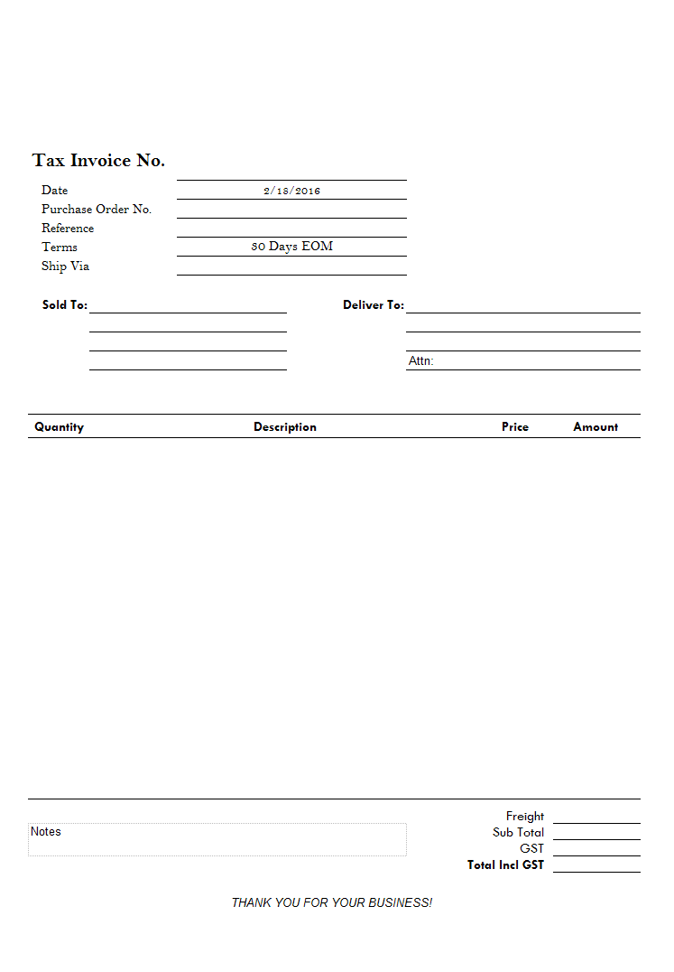 Simple Invoice For Letterhead Paper