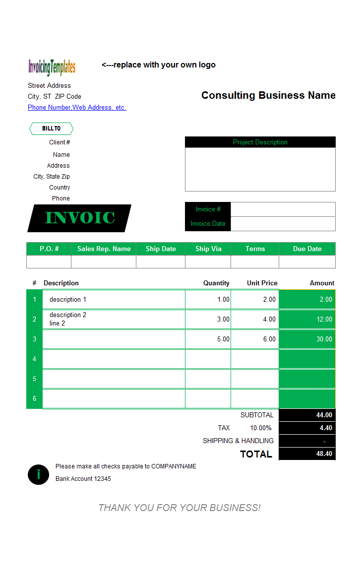 designer invoice template  red