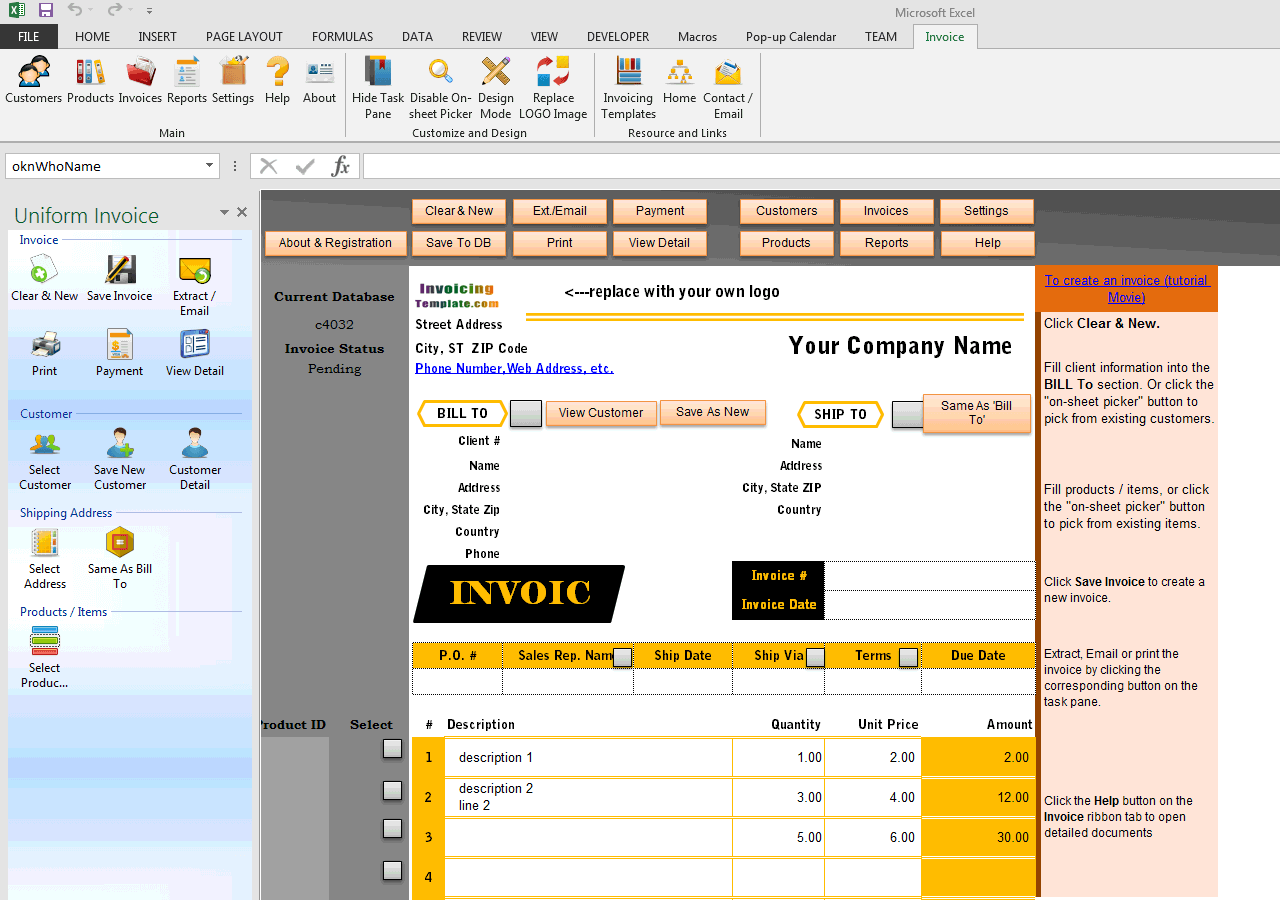 Simple Sales Invoicing Sample (UIS Edition)