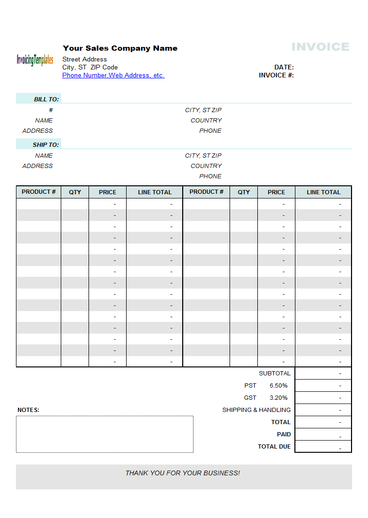 Car Invoice Template