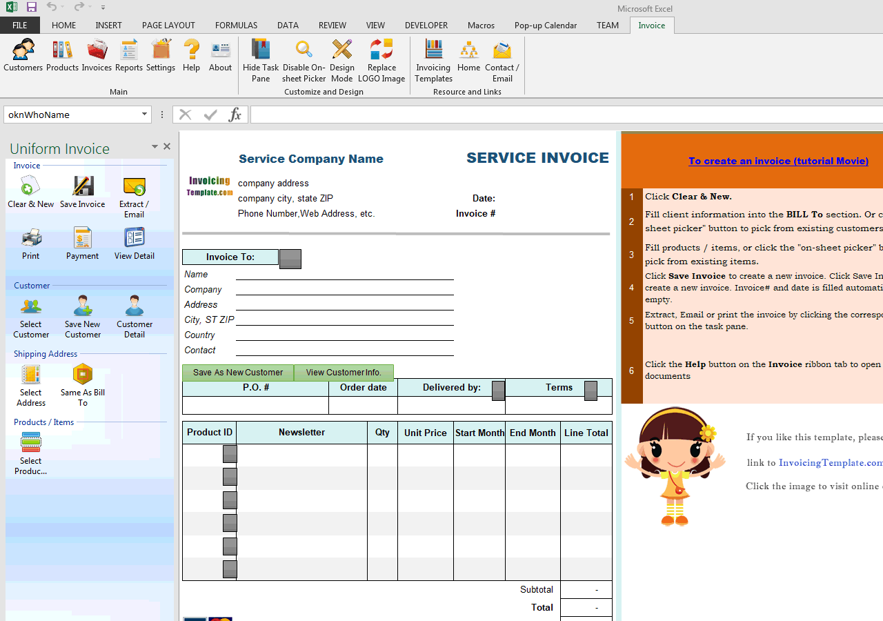 Subscription Invoice Template (Service) (IMFE Edition)