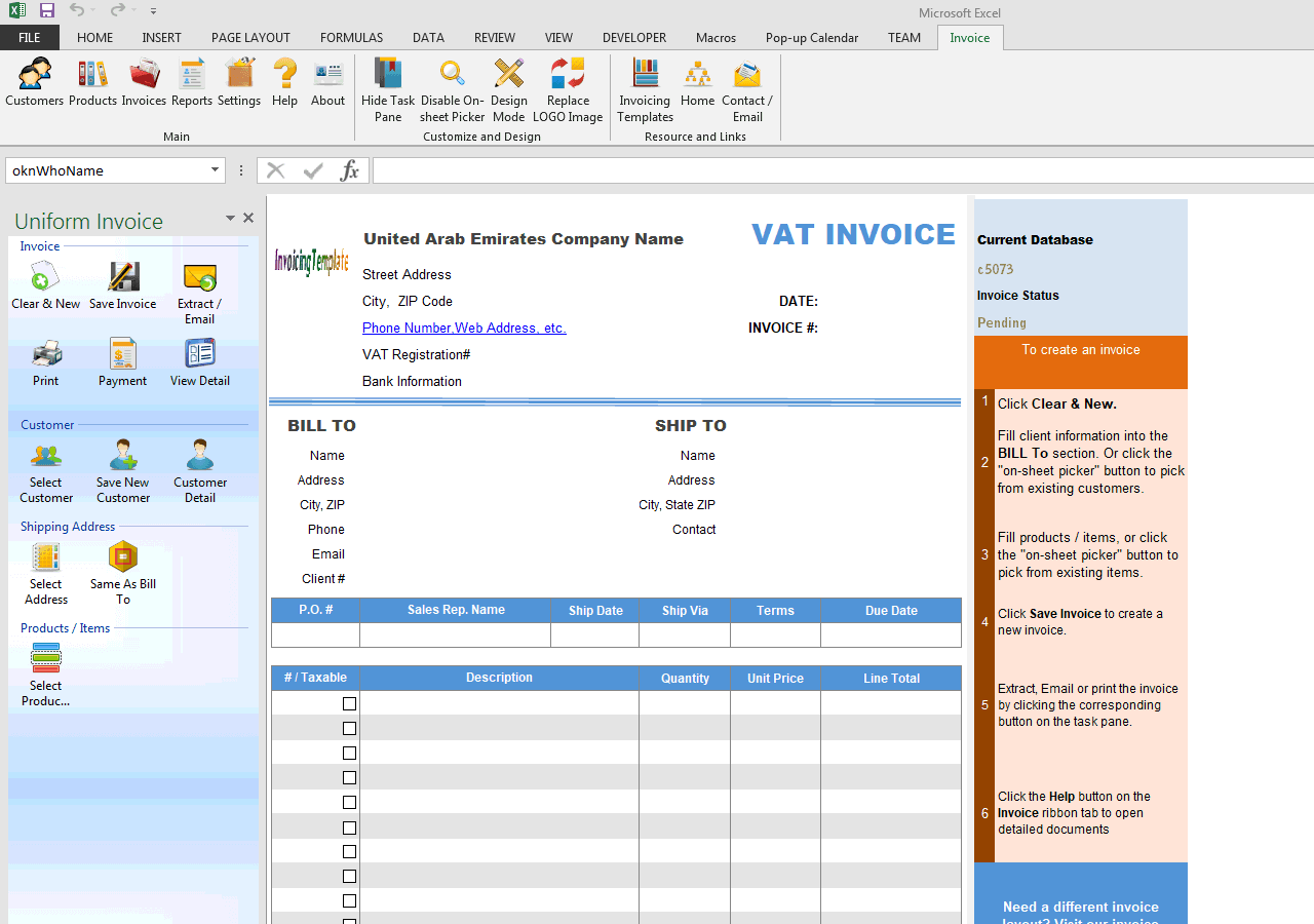 Excel Email Template
