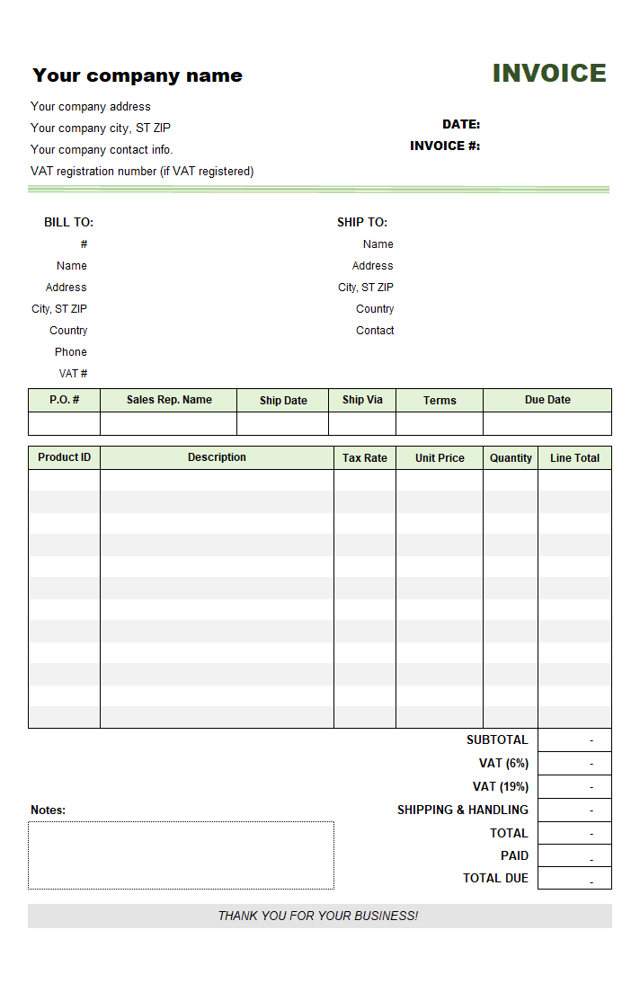 Free Invoice Template For Uk 20 Results Found
