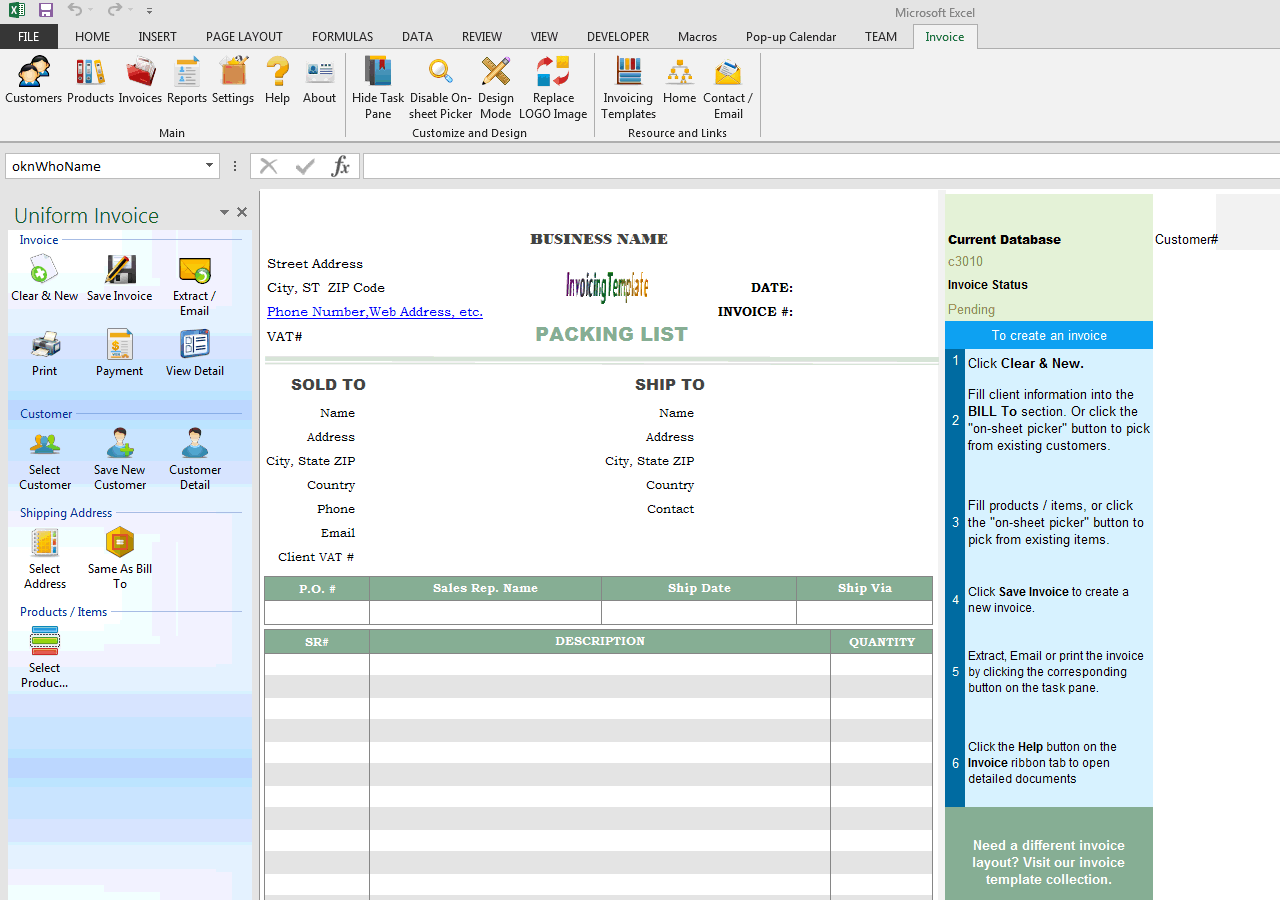 general waybill free invoice templates for excel pdf